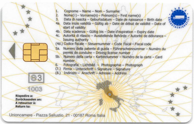 Carta del conducente | Camera di Commercio di Bologna
