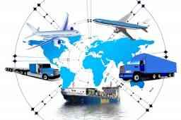 stampa certificati in azienda - mappa mondiale con due camion, due aerei e una nave